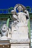 Arkitektoniska detaljer av Palmenhaus Wien royaltyfri bild