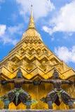 Arkitektoniska detaljer av Wat Phra Kaew Fotografering för Bildbyråer