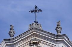Arkitektoniska detaljer för barock basilikasten Arkivbild