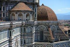 Arkitektoniska detaljer för Santa Maria del Fiore domkyrka Royaltyfria Foton