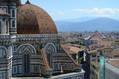 Arkitektoniska detaljer för Santa Maria del Fiore domkyrka Royaltyfri Fotografi