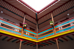 Arkitektoniska detaljer i El Jardin Colombia Arkivfoto