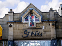 Arkitektoniska detaljer i Lancaster England i mitten av staden arkivfoton