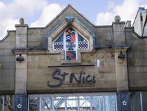 Arkitektoniska detaljer i Lancaster England i mitten av staden royaltyfri foto