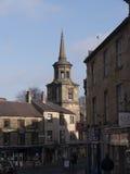 Arkitektoniska detaljer i Lancaster England i mitten av staden arkivfoto