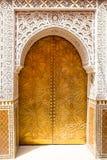 Arkitektoniska detaljer och dörröppningar av Marocko Royaltyfria Foton