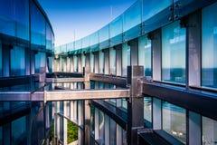 Arkitektoniska detaljer på Revel Casino Hotel i Atlantic City, Ne Arkivfoto