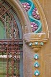 Arkitektoniska detaljer på en historisk byggnad i Timisoara, romare Royaltyfria Bilder