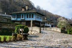Arkitektoniska ethnographic komplexa Etara, Bulgarien Arkivbild