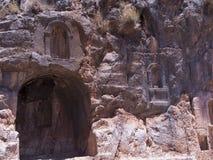 Arkitektoniska forntider i naturlig reservation av den Hermon floden Royaltyfria Bilder