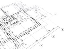 Arkitektoniska golvplan Royaltyfri Fotografi
