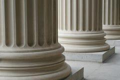 Arkitektoniska kolonner Arkivfoto