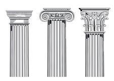 Arkitektoniska kolonner för klassiker royaltyfri illustrationer