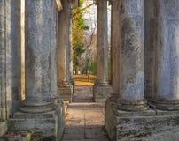 Arkitektoniska kolonner stil för sepia för forntida illustration för kolonner 3d tonad gammal realistisk Royaltyfria Foton