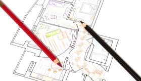 arkitektoniska plan Royaltyfri Bild