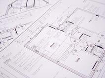 arkitektoniska plan Arkivbild