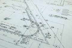arkitektoniska teckningar Arkivbild
