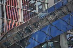Arkitektoniskt abstrakt begrepp av stads- skyskrapor Royaltyfri Foto