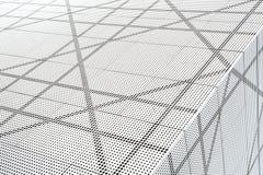 Arkitektoniskt abstrakt begrepp i svartvitt Arkivbilder