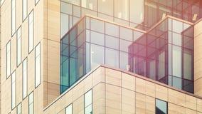 Arkitektoniskt abstrakt begrepp med varmt ljus Arkivbilder