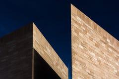 Arkitektoniskt abstrakt begrepp som tas i Washington, DC Arkivfoton