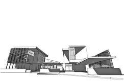 arkitektoniskt begrepp Royaltyfria Bilder