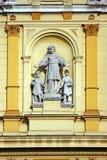 arkitektoniskt byggnadsdetaljtak royaltyfri bild