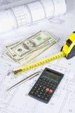 arkitektoniskt finansiellt Arkivfoto