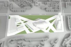 Arkitektoniskt modellOf Downtown Financial centrum Arkivfoton