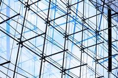arkitektoniskt modernt facadeexponeringsglas Royaltyfri Foto