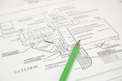 Arkitektoniskt plan Royaltyfria Foton