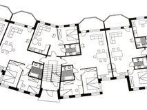 arkitektoniskt plan Arkivfoto