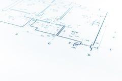 Arkitektoniskt projekt, arkitektoniskt plan, konstruktionsplan, ar arkivbild