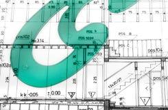 Arkitektoniskt projektslut upp Fotografering för Bildbyråer