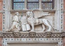 Arkitektoniskt specificerar av doge'sens slott, Venedig, Italien Royaltyfria Bilder