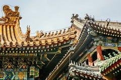 Arkitektoniskt tak för traditionell kines fotografering för bildbyråer