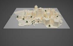 Arkitektplanmodell Arkivbild