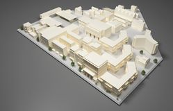 Arkitektplanmodell Arkivfoto