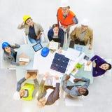 ArkitektteknikerMeeting People Brainstorming begrepp arkivbilder