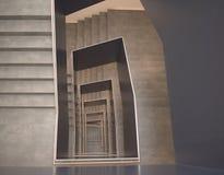 Arkitektur abstrakt begrepp, trappa, Tyskland Royaltyfri Fotografi