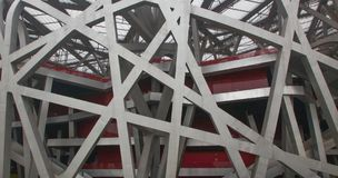 Arkitektur abstraktion av linjer Royaltyfria Bilder