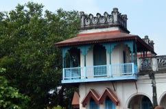 Arkitektur av 110 år gammalt Kekini mahal som byggs av challapallirajor Fotografering för Bildbyråer
