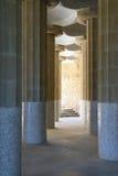 Arkitektur av Antoni Gaudi i Barcelona, Spanien Fotografering för Bildbyråer