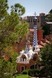 Arkitektur av Antoni Gaudi i Barcelona, Spanien Royaltyfri Bild