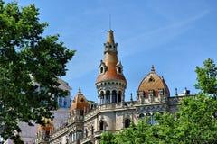 Arkitektur av Antoni Gaudi i Barcelona, Spanien Arkivbild