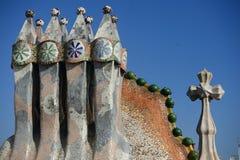 Arkitektur av Antonio Gaudi i Barcelona Fotografering för Bildbyråer