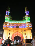 Arkitektur av arvlandfläcken Charminar, Ap, Indien. Upplyst under FN-konferensen av Partiesen-11 Arkivbilder