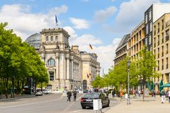 Arkitektur av Berlin, Tyskland Arkivbilder