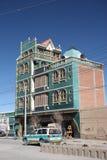 Arkitektur av Bolivia Tipical byggnad i Uyuni Royaltyfria Bilder