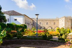 Arkitektur av Braga, Portugal arkivfoton